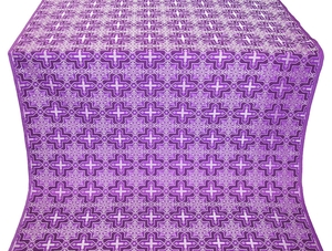 Custodian metallic brocade (violet/silver)