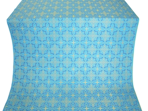 Custodian silk (rayon brocade) (blue/gold)