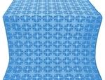 Custodian silk (rayon brocade) (blue/silver)