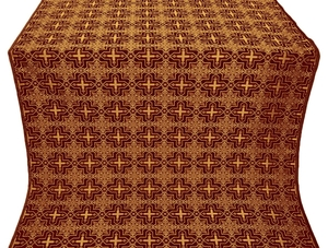 Custodian silk (rayon brocade) (claret/gold)