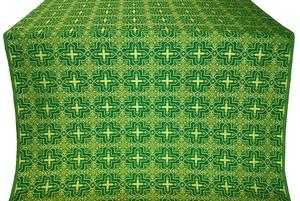 Custodian silk (rayon brocade) (green/gold)