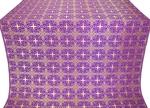 Custodian silk (rayon brocade) (violet/gold)