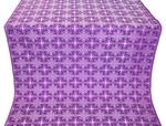 Custodian silk (rayon brocade) (violet/silver)