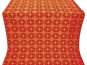 Custodian silk (rayon brocade) (red/gold)