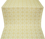 Custodian silk (rayon brocade) (white/gold)
