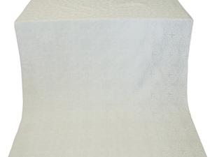Custodian silk (rayon brocade) (white/silver)