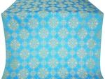Pochaev silk (rayon brocade) (blue/gold)