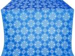 Pochaev silk (rayon brocade) (blue/silver)