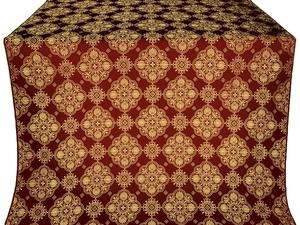 Pochaev silk (rayon brocade) (claret/gold)