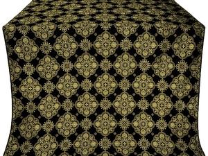 Pochaev silk (rayon brocade) (black/gold)