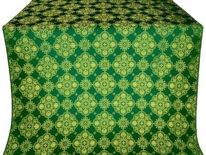 Pochaev silk (rayon brocade) (green/gold)