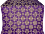 Pochaev silk (rayon brocade) (violet/gold)