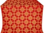Pochaev silk (rayon brocade) (red/gold)