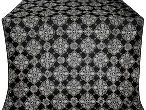 Pochaev silk (rayon brocade) (black/silver)