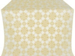 Pochaev silk (rayon brocade) (white/gold)