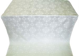 Pochaev silk (rayon brocade) (white/silver)