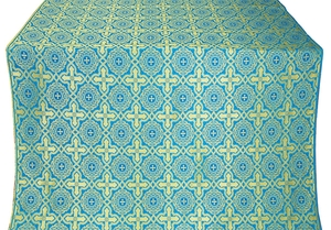 Zlatoust silk (rayon brocade) (blue/gold)
