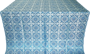Zlatoust silk (rayon brocade) (blue/silver)