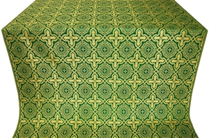 Zlatoust silk (rayon brocade) (green/gold)