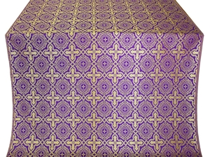 Zlatoust silk (rayon brocade) (violet/gold)