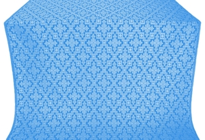 Solovki silk (rayon brocade) (blue/silver)