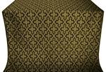 Solovki silk (rayon brocade) (black/gold)