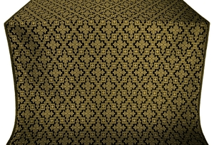 Solovki silk (rayon brocade) (black/gold)