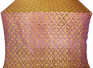 Solovki silk (rayon brocade) (violet/gold)