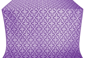 Solovki silk (rayon brocade) (violet/silver)