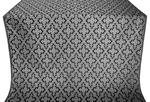 Solovki silk (rayon brocade) (black/silver)