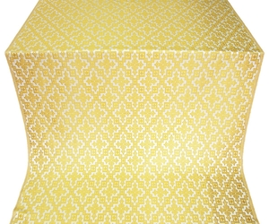 Solovki silk (rayon brocade) (white/gold)