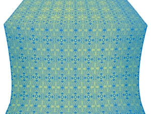 Nicea silk (rayon brocade) (blue/gold)