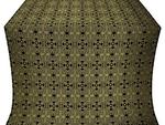 Nicea silk (rayon brocade) (black/gold)