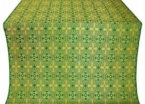 Nicea silk (rayon brocade) (green/gold)