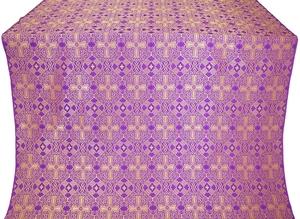 Nicea silk (rayon brocade) (violet/gold)