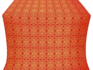 Nicea silk (rayon brocade) (red/gold)