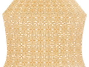Nicea silk (rayon brocade) (white/gold)