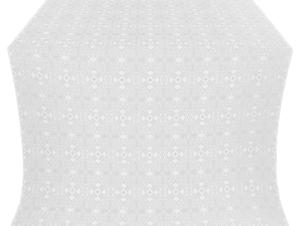 Nicea silk (rayon brocade) (white/silver)