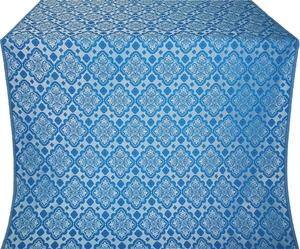 Souzdal silk (rayon brocade) (blue/silver)