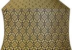 Souzdal silk (rayon brocade) (black/gold)