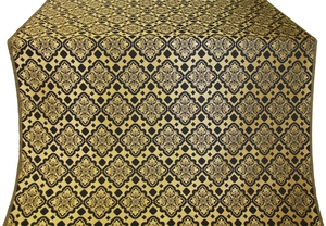 Souzdal silk (rayon brocade) (black/gold)