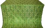 Souzdal silk (rayon brocade) (green/gold)