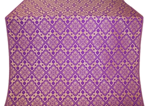 Souzdal silk (rayon brocade) (violet/gold)