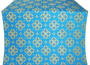 Kostroma silk (rayon brocade) (blue/gold)
