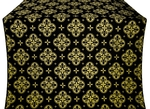Kostroma silk (rayon brocade) (black/gold)