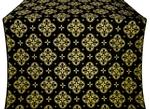 Kostroma silk (rayon brocade) (black/gold)