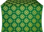 Kostroma silk (rayon brocade) (green/gold)