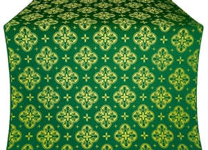 Kostroma silk (rayon brocade) (green/gold)
