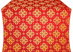 Kostroma silk (rayon brocade) (red/gold)