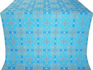 Iveron silk (rayon brocade) (blue/gold)